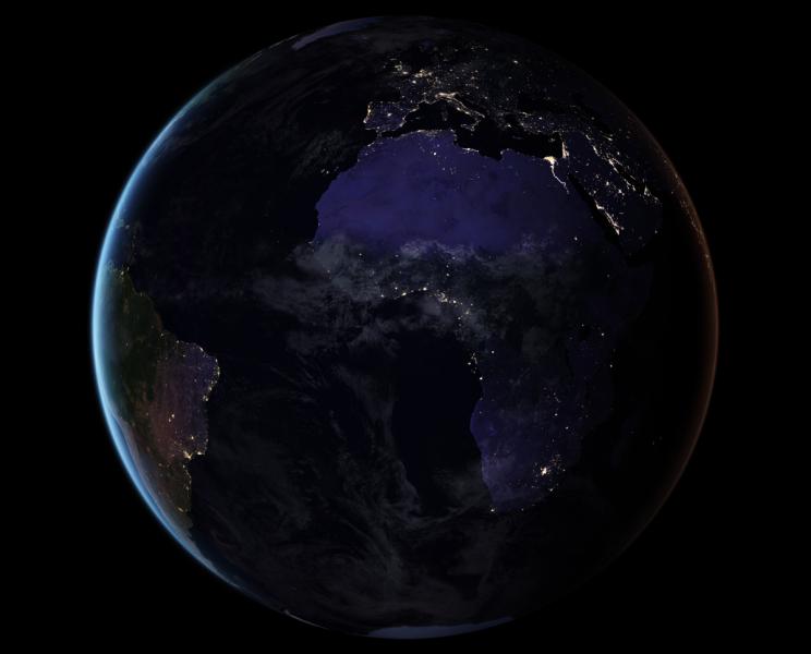 Europa i Afryka widziane z Kosmosu