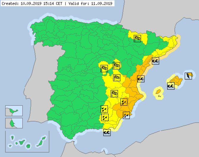 Ostrzeżenia meteorologiczne obowiązujące w środę (meteoalarm.eu)