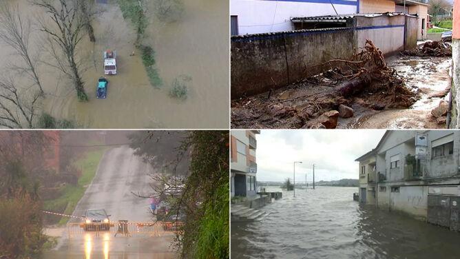 Hiszpania i Portugalia pod wodą. <br />Żywioł ich nie oszczędza