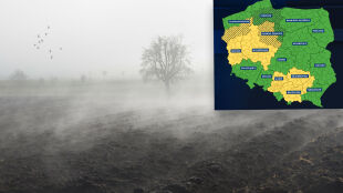 Gęsta mgła w wielu regionach. Alarmy i prognoza zagrożeń IMGW