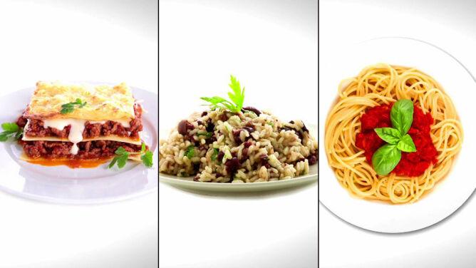 Ile kalorii ma spaghetti, a ile risotto i lasagne?