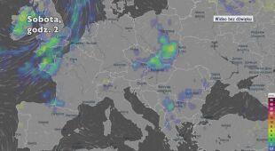 Prognozowane opady w najbliższych dniach w Europie (Ventusky.com)