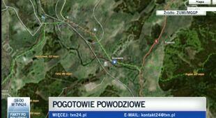 Podtopienia w Marciszowie (TVN24)